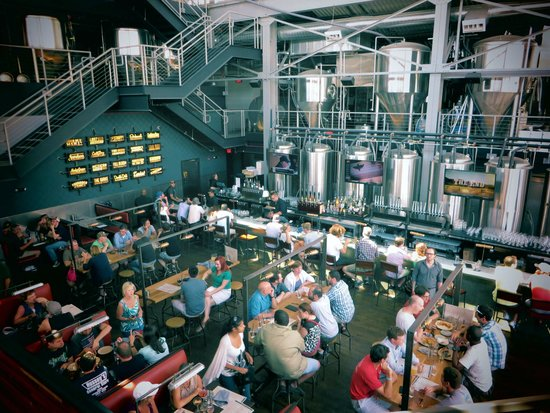 View of bar area from the balcony - Picture of Bluejacket ...