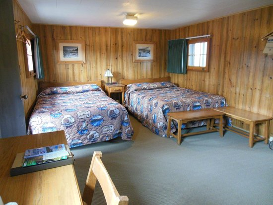 Old Faithful Snow Lodge and Cabins: Cabin view of 2 dbl beds