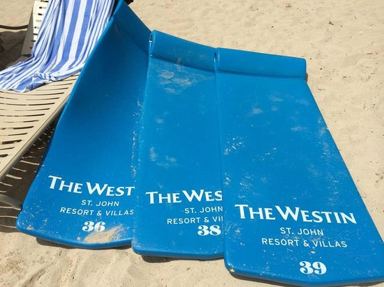 The Westin St. John Resort : Comfortable, free floats for the beach.