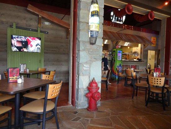 Six Pence Pub Blowing Rock : Views inside restaurant.