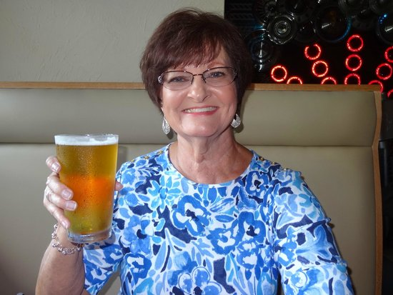 Six Pence Pub: Enjoying a delicious beer!