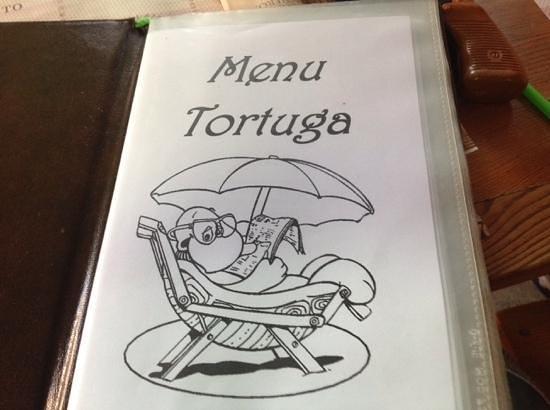 il frontespizio del menu'!