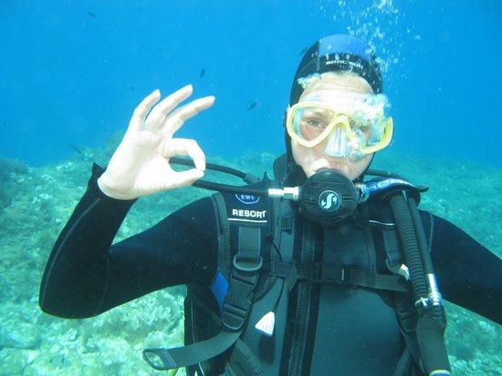 Under Hundred Diving: first 'OK' dive!