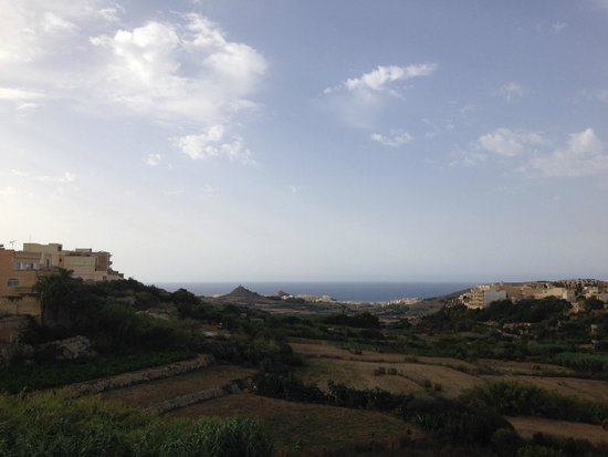 Daydream Gozo: View of the sea from our balcony