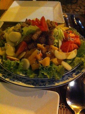 Absolutu!: Salada. Bem farta, para duas pessoas.