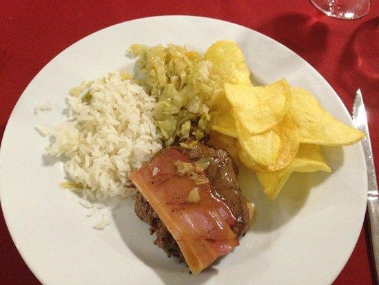 Restaurante Abadia Do Porto: Lombinhos = Filet mignon de boeuf au bacon