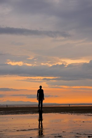 Antony Gormley's Another Place: Looking out to sea