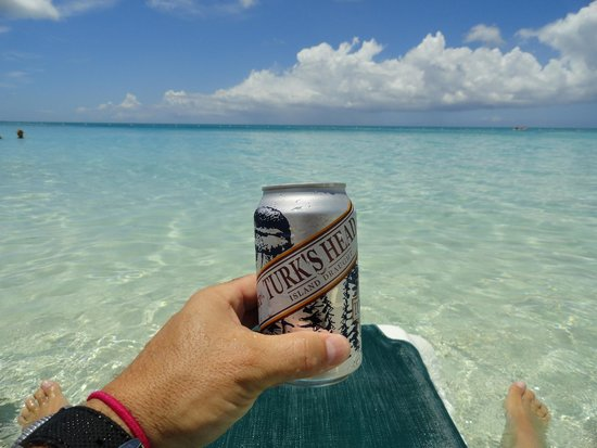 Beaches Turks & Caicos Resort Villages & Spa: Best way to have an Island beer