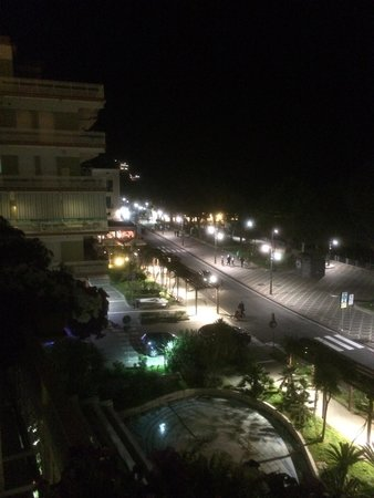 Hotel Panorama: Night view from balcony.