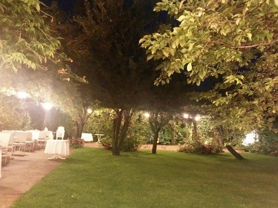 Albergo Ristorante Piacentino : Il giardino alle 22
