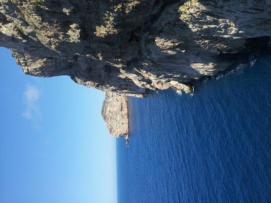 Frecce delle Grotte di Antonio Piccinnu: Vista della scogliera