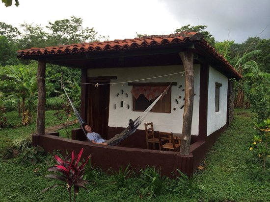 Finca Mystica: Our cabin, with hammock on the front porch!