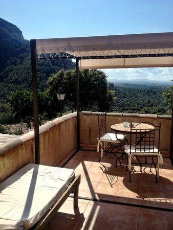 Finca Hotel Albellons Parc Natural : our terrace