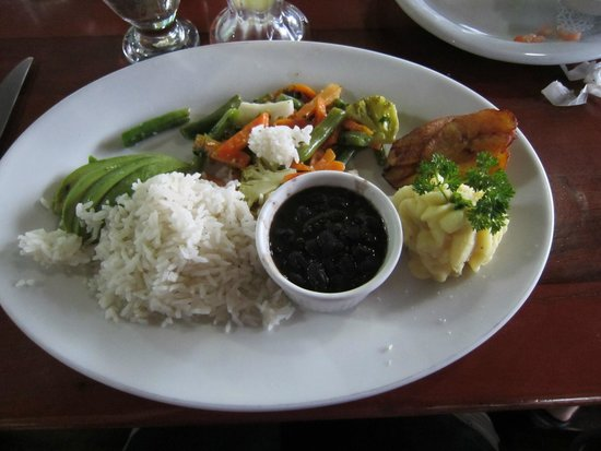 Lava Rocks Cafe: Typical Costa Rican plate