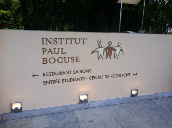 Institut Paul Bocuse : l'entrée