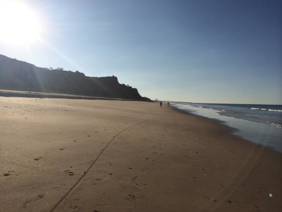 Porto Bay Falesia: Early morning view on Olhos d'Agua beach