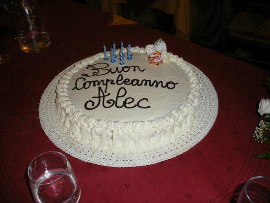 Albergo Ristorante Masolino: The Birthday Cake