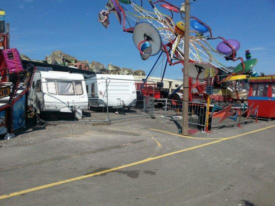 Barry Island Pleasure Park: Over the caravans.