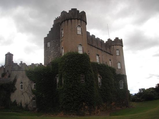 Malahide Castle: view of the castle from the West Lawn
