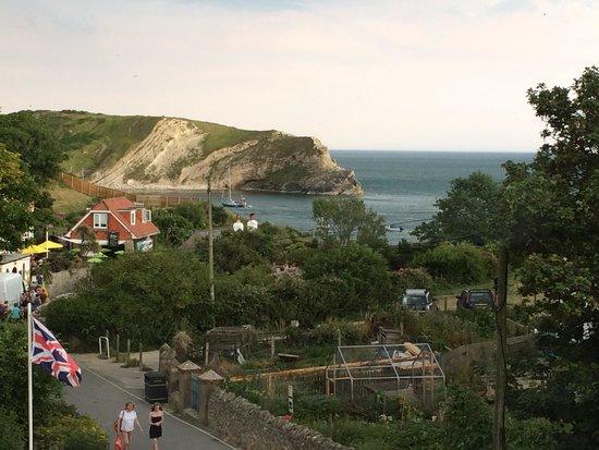 Lulworth Cove Inn: Our view.