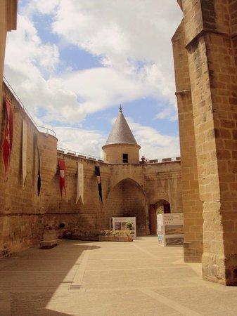 Palacio Real de Olite: Algunas torres denotan influencia francesa.