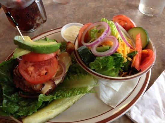 Sugar Pine: A delicious bun-less burger.