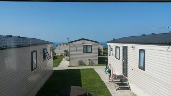 Sandymouth Holiday Park: View from caravan