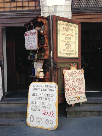 Olde Hansa : Signs outside the restaurant