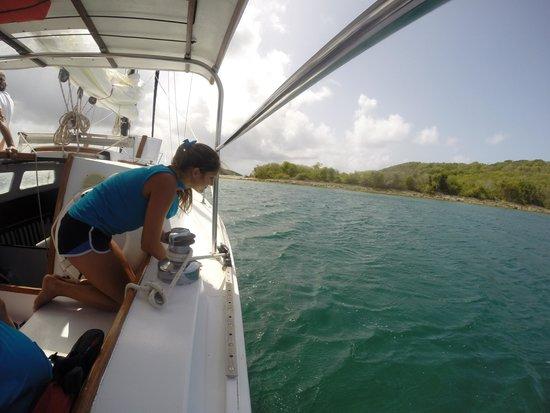 Marauder Sailing Charters - Private Tours: leaving Esperanza