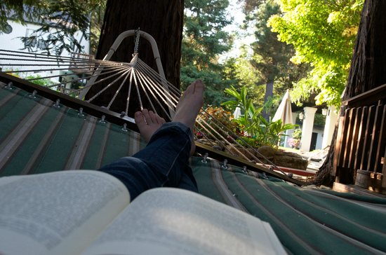 Candlelight Inn Napa Valley: Time to enjoy a book...