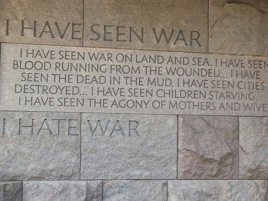 Franklin Delano Roosevelt Memorial: One of fDR's famous sayings