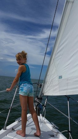 Magic Wind Adventure Sailing: Enjoying the view of The Gulf of Mexico!