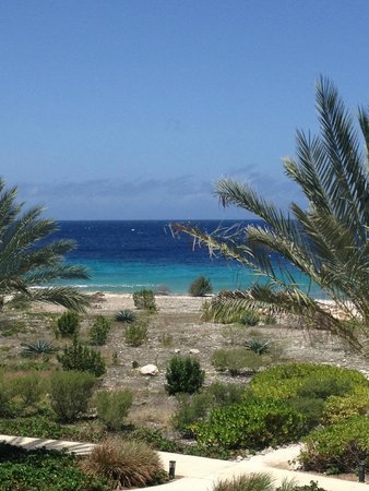 Santa Barbara Beach & Golf Resort, Curacao: Walking down to the ocea