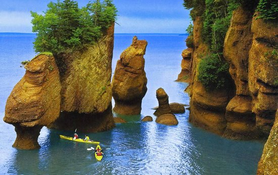 Bay Of Fundy High Tide New Brunswick Can