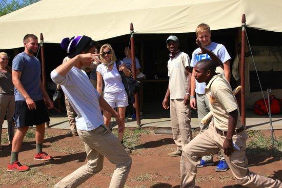 Serengeto Osupuko Tented Camp: The Handshake