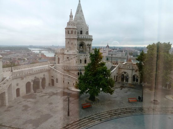 Hilton Budapest: view from my room.