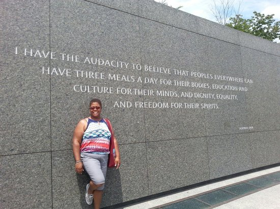 Martin Luther King, Jr. Memorial : This is my mission as a social worker.