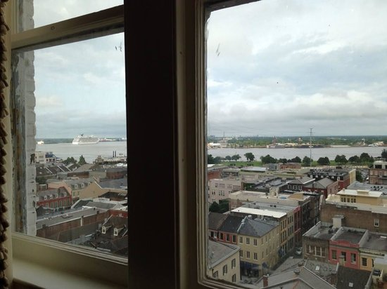 Hotel Monteleone: View of the River from la iving area window