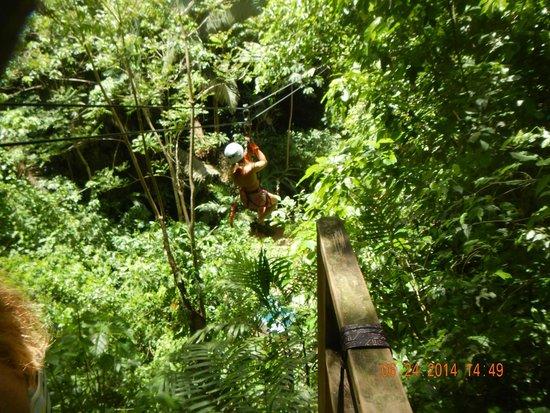 Belize Zipline and Cave Tubing Adventure: zip lining