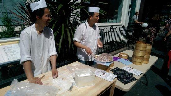 Dumplings' Legend: Making dumplings outside
