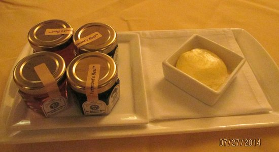 Capitol Grille: Butter & jam