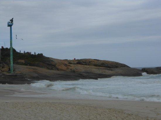 Hotel Arpoador: Vista do mar da frente do hotel