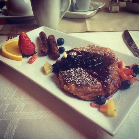 Inn On Carleton: Crossiant French Toast with Lemon Cream Cheese Filling
