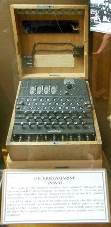 National Cryptologic Museum: German Navy 4-rotor Enigma.