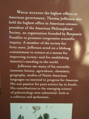 Jefferson Memorial: Thomas Jefferson exhibit under the monument.