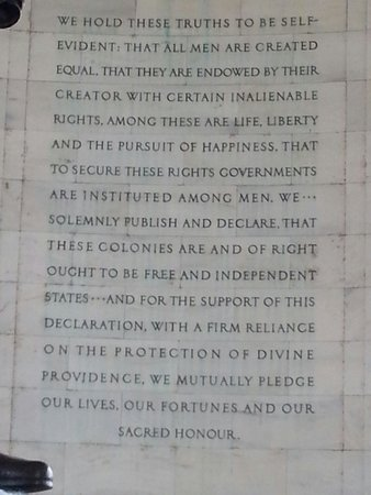 Jefferson Memorial: You know what this is...Declaration of Independence excerpt.