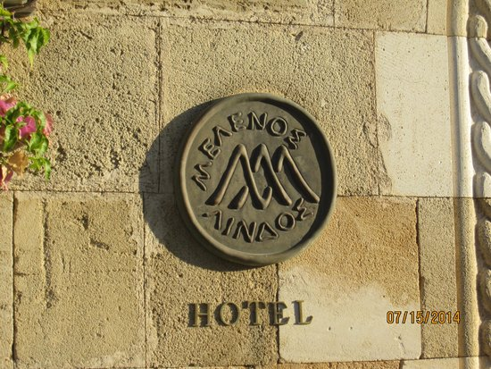 Melenos Lindos Hotel : Melenos log