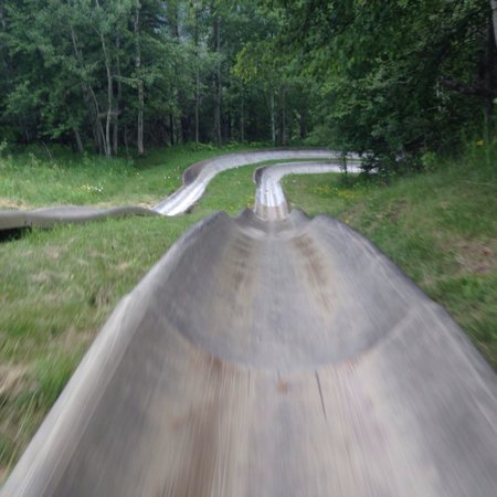 Lutsen Mountains: Fun times on the alpine slide at Lutsen!