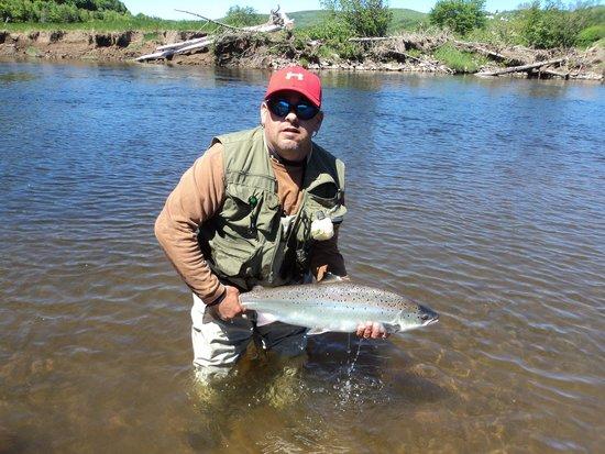 Big Intervale Fishing Lodge: 1st day fishing...