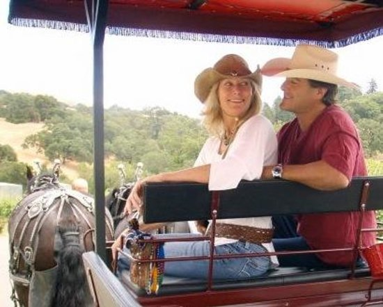 The Wine Carriage: Bret & Lily, coachman and guide + partner